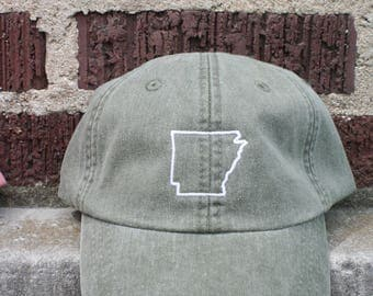 Olive Green Arkansas State Style Hat