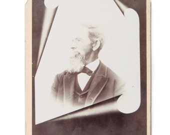 Victorian Memorial Photo Bearded Man Mourning Photography