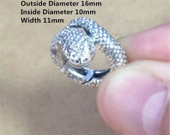 Sterling Silver Snake Lobster Clasp, 925 Silver Snake Clasp, Animal Clasps - ZT837