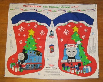 Thomas The Tank & Friends Engine Train Giant Christmas Stocking VIP Fabric Panel