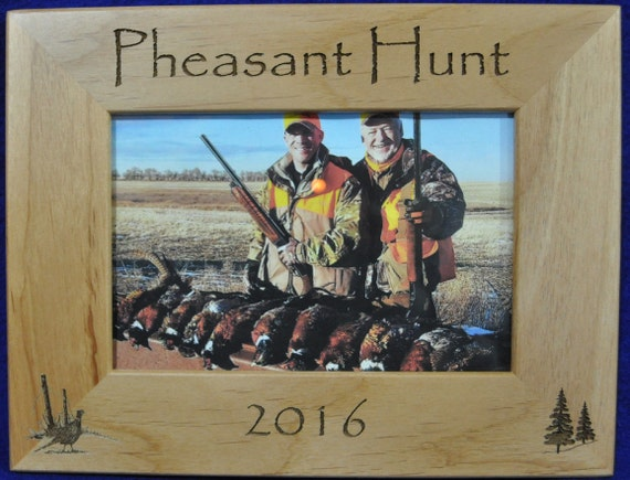 hunting frames pheasant hunting frame hunting gift gift for hunter hunting picture