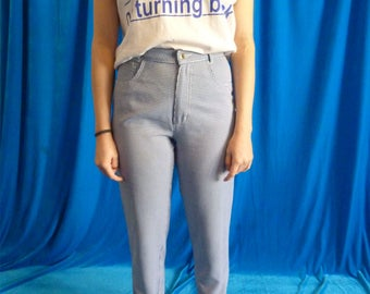 Trousers Capri Vivhy Blue and white vintage 90s
