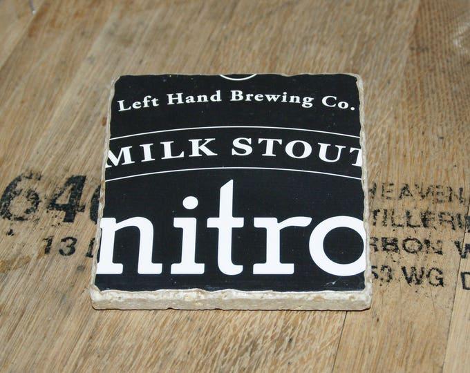 UPcycled Coaster - Left Hand Brewing Co. - Nitro Milk Stout