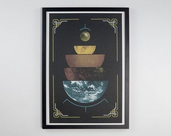 "Layers of the Earth - Science Poster - 12.5 x 19"" - Screen Printed"