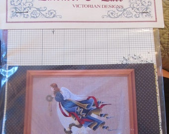 Lavender & Lace Second Angel of Freedom Counted Cross Stitch Graph
