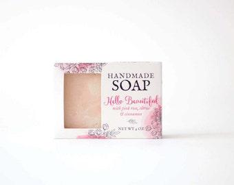 Spa Soap - Feminine Soap - Pink Soap - Floral Soap - Mothers Day - sensitive skin soap - all natural soap - moisturizing soap - Gift basket