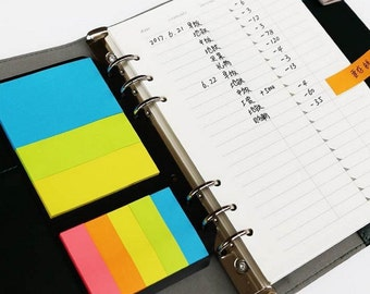 New arrived ! Colorful Post Note Pad Planner Dashboard For A5 A6 (personal) Filofax planner dividers B20