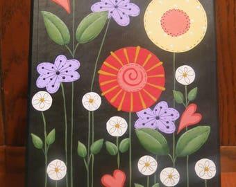 Seeds Garden Box, Index File Box, Amfile Cardboard Box, Painted Flowered Box, Storage Box