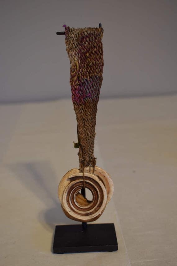 Papua New Guinea Conus Shell Large Woven Armband Lumi Tribe Handmade Fiber Shells Wealth Currency Shell Armband
