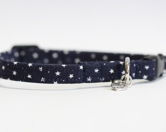 Navy star Cat Collar