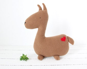 Llama Plush, Llama Stuffed Animal, Farm Animal Plush, Stuffed Llama, Llama Toy, Fleece Llama Plush, Baby Shower, Baby Girl, Baby Boy, Llama