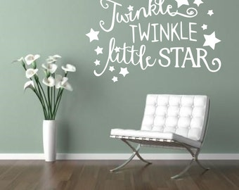 Twinkle Twinkle Little Star Wall sticker, decal ,quote wall art home decor removable diy stickers sign words sticky letters