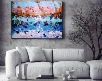 Handmade Original Abstract Painting Home Decor Large Wall Art Canvas Colorful Acrylic Painting Living Room Wall Decor Modern Art Christovart