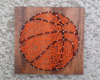 Made to Order String Art Basketball Sign