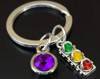 Drivers License Keychain, Custom Keychain, Custom Key Ring, Drivers License Pendant, Drivers License Charm, Driving Jewelry, Driving Safely