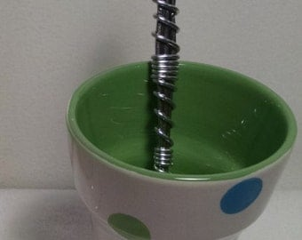 Ice Cream Cone Sundae Cup with matching Wire Wrapped Spoon