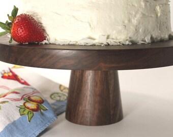 Wood Cake Pedestal
