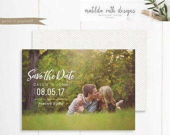 Printable Save the Date, Announcement, Save the Date Template, Photo Save the Date, Save the Date Magnet, Save the Date, PDF, The Cassie