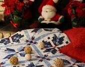 PDF Queen Quilt Pattern - Digital Quilt Pattern - PDF Quilt Pattern - PDF Christmas Quilt Pattern - Digital pdf - Queen Quilt - Blue Quilt