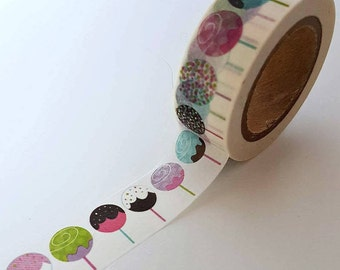 Lollipop Washi Tape - Full Roll