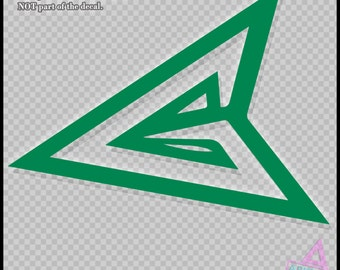Green Arrow Logo - Vinyl Sticker