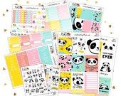Planner Sticker Kit | Vertical Planner Sticker Kit | Weekly Planner Kit | Bear Planner Stickers | Panda Life Planner Stickers | Panda Bear