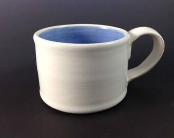 White Ceramic Mug - Ceramic Mug Set - Pottery Mug - Ceramics and Pottery - Coffee/Tea Stoneware Cups - Ceramic Coffee Mug - Latte Mug