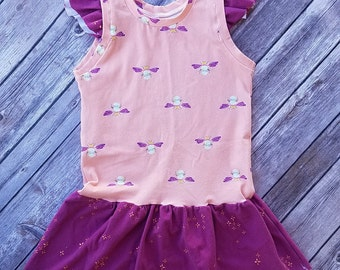 Baby ruffle sleeve dress size 2/3, toddler dress, baby girl, toddler girl dress, fiefly dress