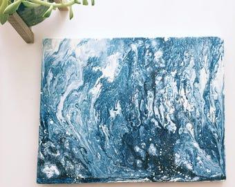 Indigo Marble Canvas