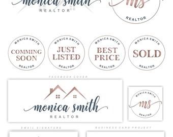 Real Estate logo design, Realtor Logo Set, Broker logo, Houses Logo, Roofs logo, Realty Logo Design, Realtor Stamps, Business Card, Logo 111
