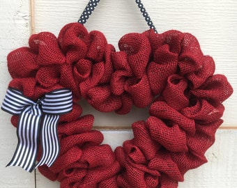 Valentine wreath,Valentine burlap wreath,Valentine burlap heart wreath,Burlap heart wreath,Heart wreath,