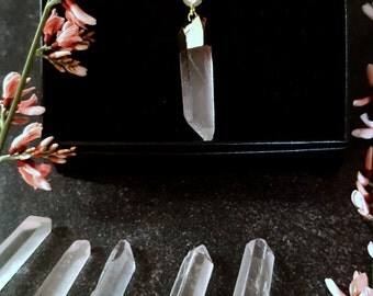 Raw Layered Necklace/Raw Crystal Points Necklace/Raw Quartz Point Necklace/Natural Point Necklace / Bohemian Crystal Necklace/ Boho Quartz