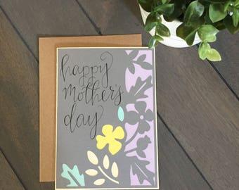 Flower Mother's Day Card (Handmade)