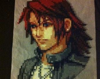 Portrait Squall Final Fantasy VIII beads Beads / Pixel art