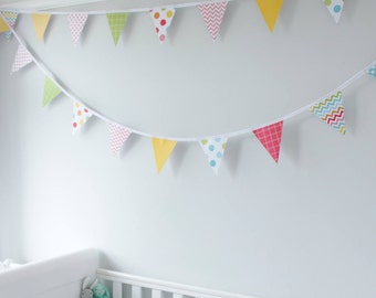 Bright Nursery Bunting - Gender Neutral