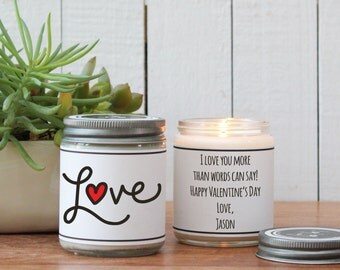 Love Heart Scented Soy Candle | Scented Candle - Valentine's Day Candle | Be My Valentine | Boy Friend Gift | Girl Friend Gift | Love Candle