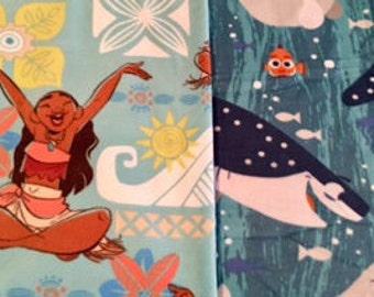 Surfs UP MOANA! Handmade fleece blanket designed by JAX. A Disney Princess theme throw has 2 size & pattern combos help make an ideal gift!
