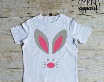 Bunny Face Shirt, Cute Spring Shirt, Easter Bunny Shirt, Bunny Shirt, Easter Shirt