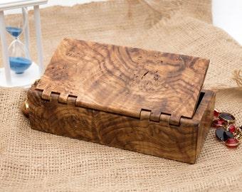 Small Wooden Jewelry Box-Wooden Jewellery Box-Wooden Box-Legna portagioie-Schatulle-Scatola di legno-Boite a bijoux-Smykkeskrin