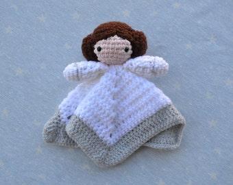 Doudou Leia, gift baby star wars, doudou, blanket attachment, newborn baby gift, baby, Princess Leia, star wars gift baby, baby star wars