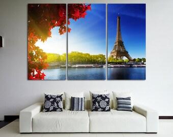 Eiffel Tower Paris Canvas Paris skyline Eiffel Tower print Paris photo Paris poster Eiffel Tower wall art Paris wall decor Paris Skyline