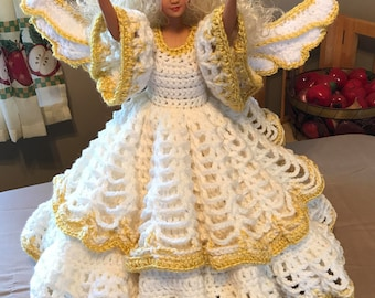 Handmade crocheted Angel Doll