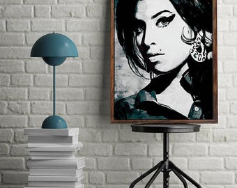 Music poster Amy Winehouse Poster Amy Winehouse Wall Decor Amy Winehouse Wall Art Amy Winehouse Print Amy Winehouse Download Printable Music