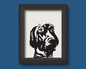 Black and White Dog Print