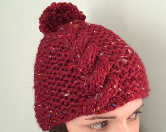 Snow Day Hat - Red Tweed