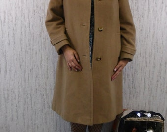 Vintage 70s cashmere wool coat Julius Made in England
