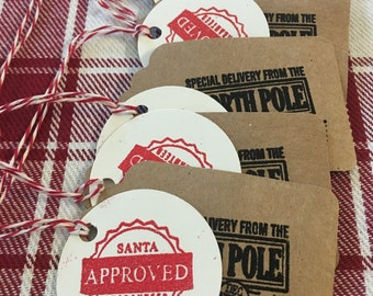 5 Santa Approved Delivery Gift Tags