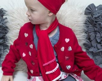 Fashion Scarf with Pom Pom Embellishments - Baby/Toddler