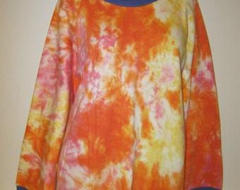RAINBOW Tie Dye SWEATER vintage handmade psychedelic dress cute kawaii skate M L 12 14 16 festival 80's punk 90's hipster surf