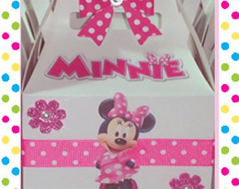 Minnie Mouse Candy box, for sweets, birthday decoration, parties